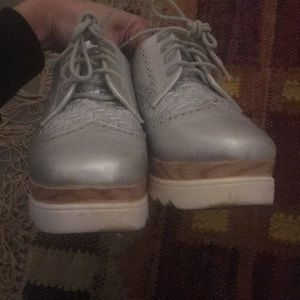 Steve Madden Shoes - Metallic Platform Oxfords